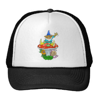 Gnome on a hat. trucker hat