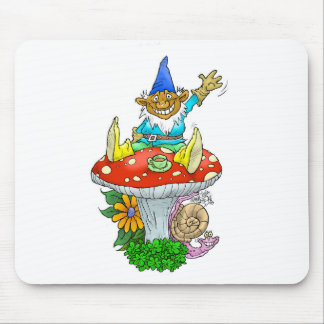 Gnome on a mouse pad. mouse pad