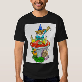 Gnome on a Toadstool, on a T-shirt. T-Shirt