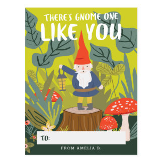 Gnome One Like You Valentine Postcard