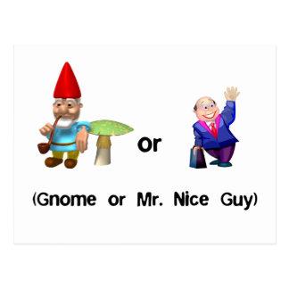 Gnome or Mr. Nice Guy Postcard