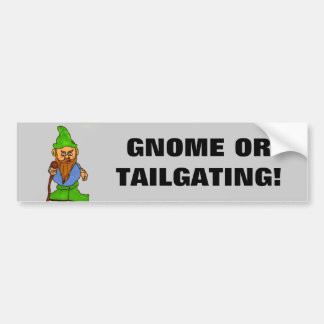 Gnome or Tailgating Car Bumper Sticker