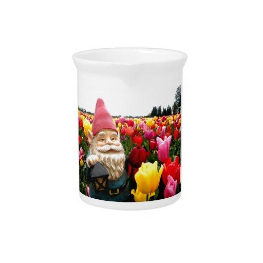 Gnome Petals Beverage Pitcher