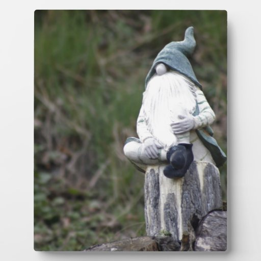 Gnome Photo Plaque