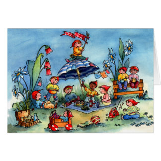 Gnome Picnic Greeting Cards