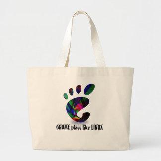 GNOME Place Like LINUX Large Tote Bag