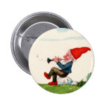 Gnome Playing Music Buttom Pinback Button