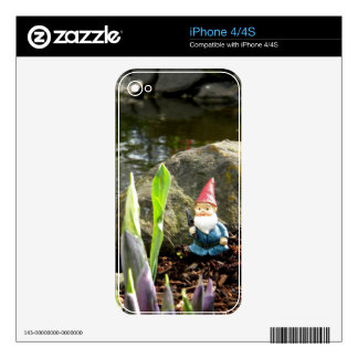 Gnome Pond Decals For iPhone 4S