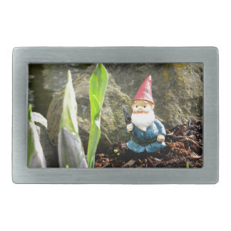 Gnome Pond Rectangular Belt Buckle