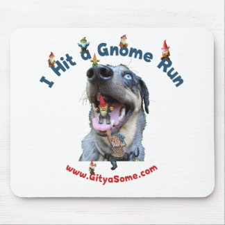 Gnome Run Home Run Dog Mouse Pad
