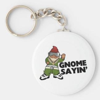 Gnome Sayin Funny Swag Gnome Basic Round Button Keychain