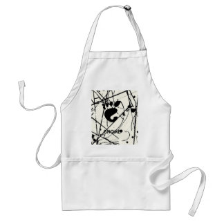 GNOME Scribbles BW Adult Apron