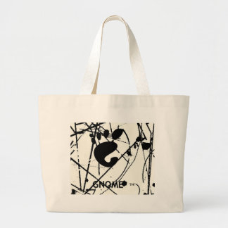 GNOME Scribbles BW Canvas Bag