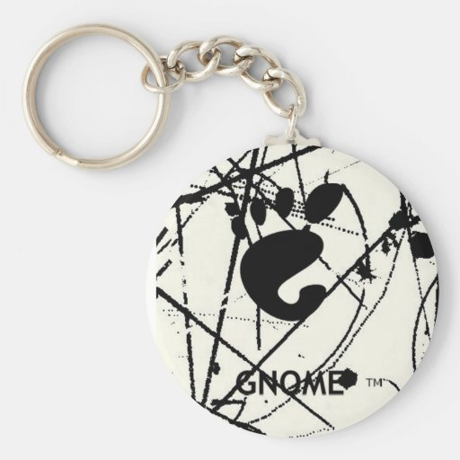 GNOME Scribbles BW Basic Round Button Keychain