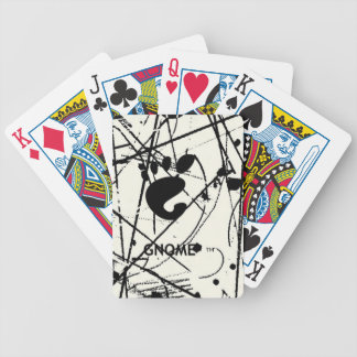 GNOME Scribbles BW Bicycle Playing Cards