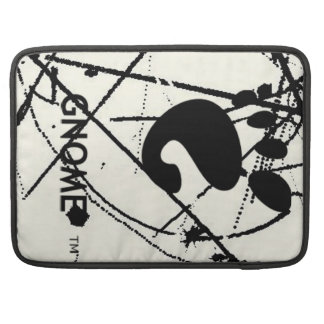 GNOME Scribbles BW Sleeve For MacBook Pro