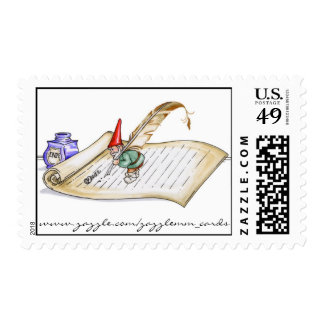 Gnome Scroll - Postage Stamp
