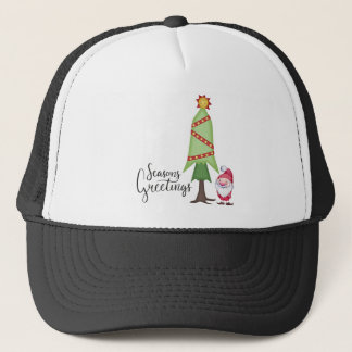 Gnome Seasons Greetings Trucker Hat