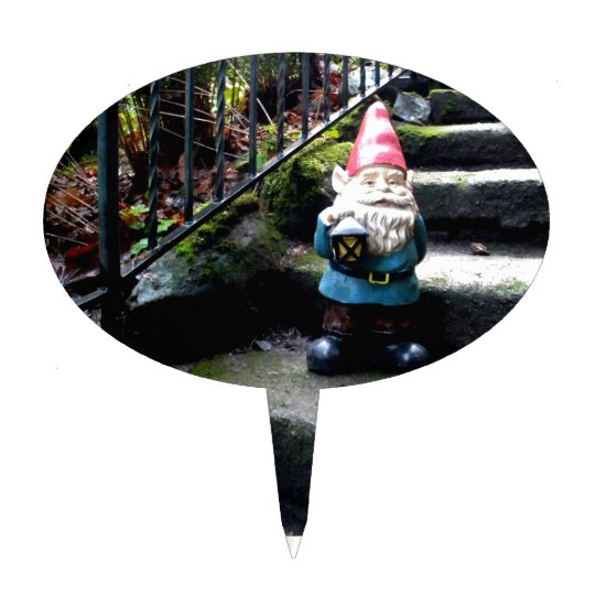 Gnome Stairs Cake Topper