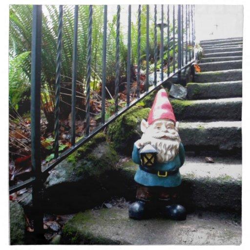 Gnome Stairs Cloth Napkin