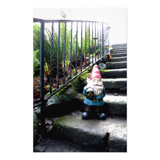 Gnome Stairs Stationery Paper