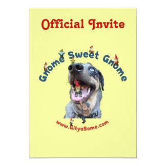 Gnome Sweet Gnome Dog 5x7 Paper Invitation Card