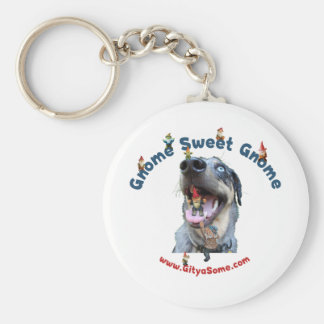Gnome Sweet Gnome Dog Keychains