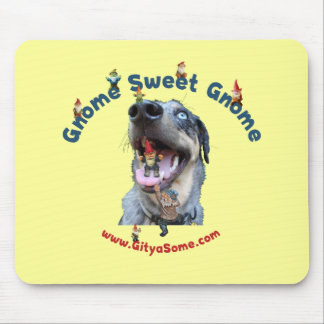 Gnome Sweet Gnome Dog Mouse Pad