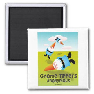 Gnome Tippers Anonymous Fridge Magnets