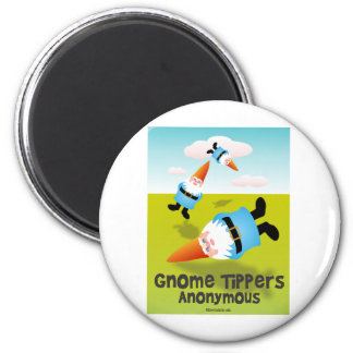 Gnome Tippers Anonymous Fridge Magnet