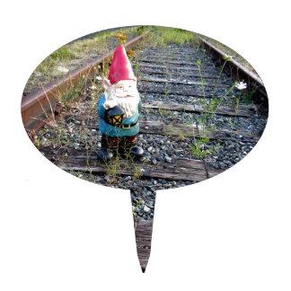 Gnome Tracks Cake Topper
