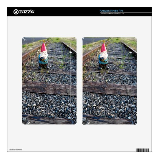 Gnome Tracks Decal For Kindle Fire