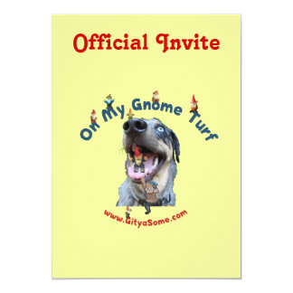 Gnome Turf Dog 5x7 Paper Invitation Card