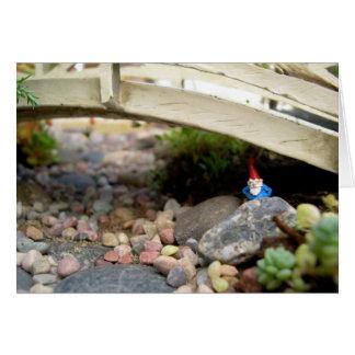 Gnome under Bridge, Blank Card