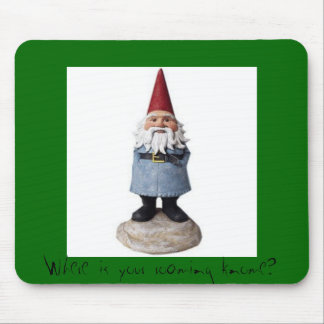 gnome_wideblog, Where is your roaming knome? Mouse Pad