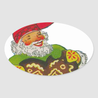 Gnome with a heart oval sticker