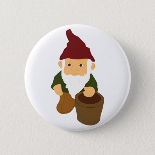 Gnome with Bucket Button