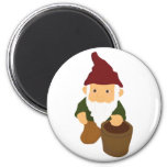 Gnome with Bucket Magnet