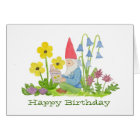 Gnome with Flower Book birthday card