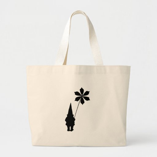 Gnome With Flower Large Tote Bag