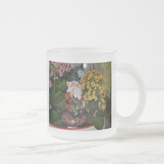 Gnome with Frog-full size Frosted Glass Coffee Mug