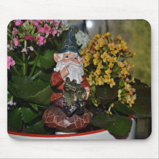 Gnome with Frog-full size Mouse Pad