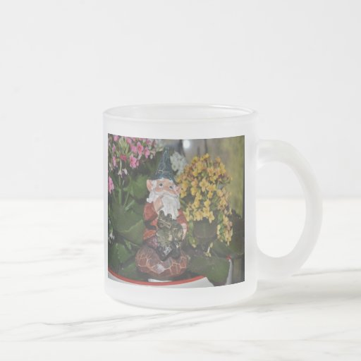 Gnome with Frog-full size Mugs