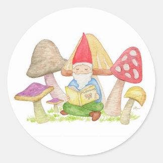 Gnome with Mushrooms sticker