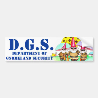 GNOMELAND SECURITY BUMPER STICKER