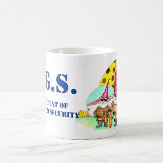 GNOMELAND SECURITY CLASSIC WHITE COFFEE MUG