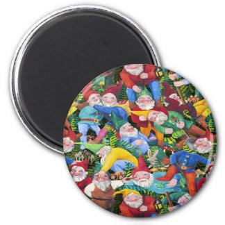Gnomes 2 Inch Round Magnet