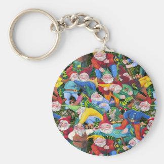 Gnomes Basic Round Button Keychain