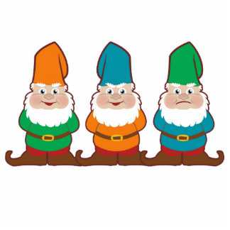 Gnomes Cutouts Sculpture or Magnets