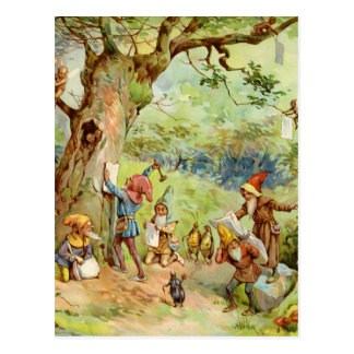 Gnomes, Elves and Fairies in the Magical Forest Postcard